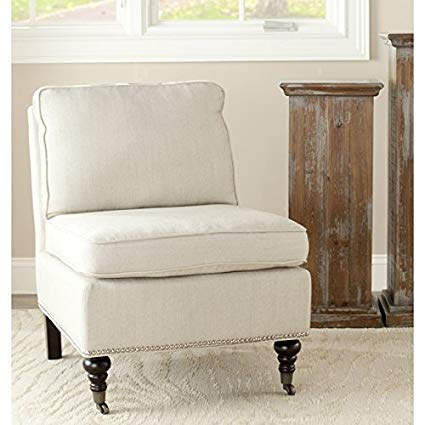 Amazon.com: Safavieh Mercer Collection Randy Slipper Chair, Off