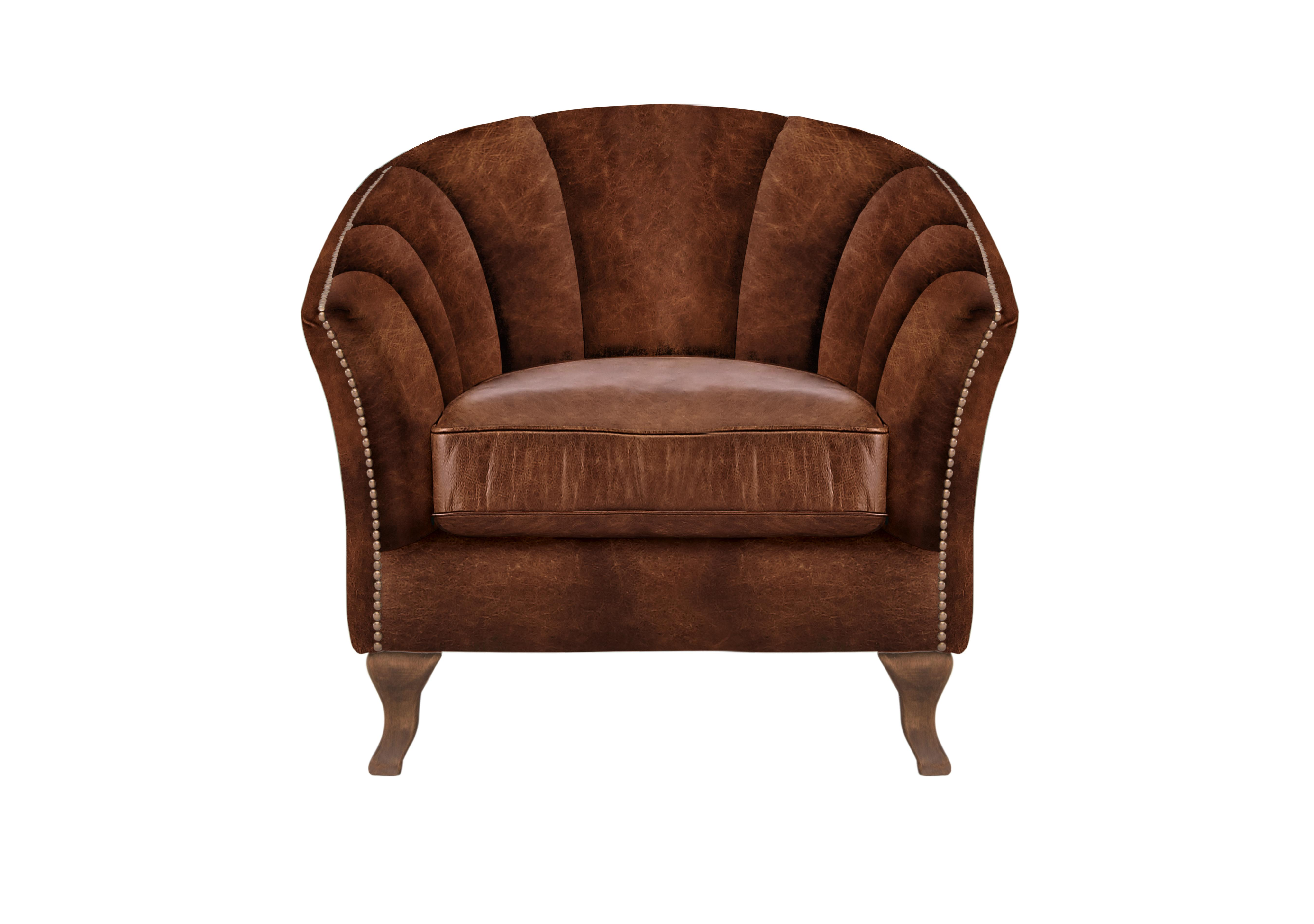 Brown Leather Armchairs - Furniture Village
