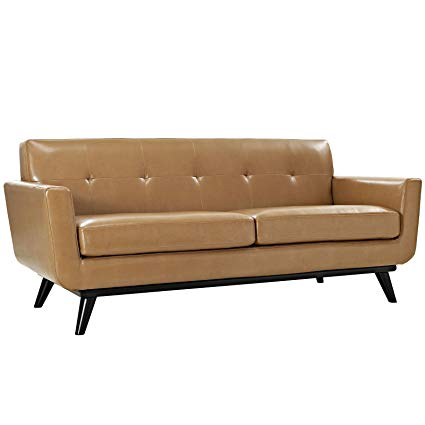 Amazon.com: Modway Engage Mid-Century Modern Upholstered Leather