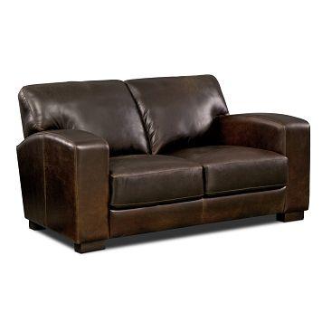 Grayson Leather Loveseat - Value City Furniture $989.99 | Furniture