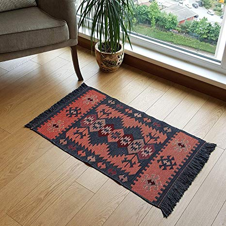 Amazon.com: Modern Bohemian Style Small Area Rug, 2' x 3' ft