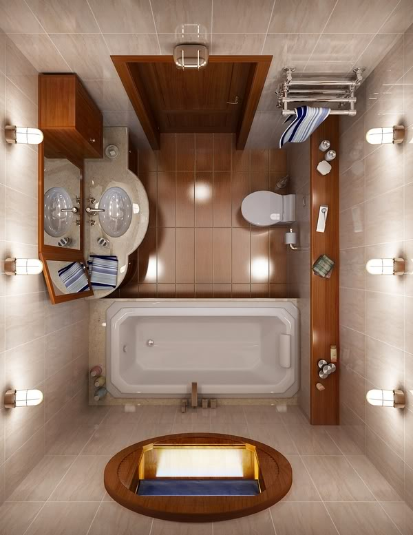 Give a New Look to your small size   bathroom
