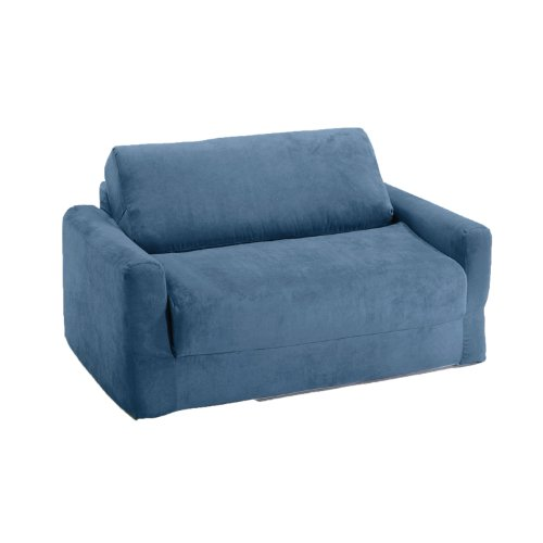 Amazon.com: Fun Furnishings Sofa Sleeper, Blue Micro Suede: Kitchen