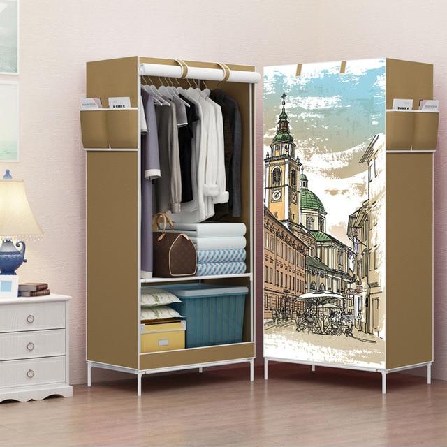 Multi function Wardrobe Folding Cloth Closet Cartoon Clothing