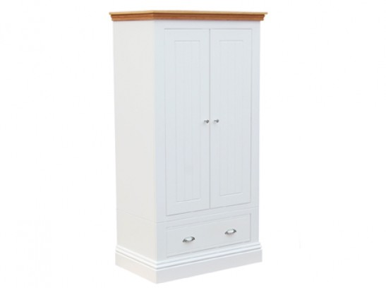 CBC - Small Wardrobe With Drawer White