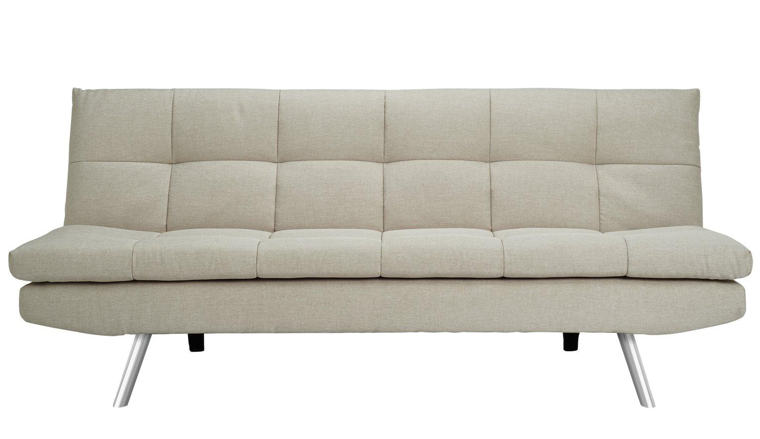 Buy Argos Home Nolan 3 Seater Fabric Sofa Bed - Natural   Sofa beds