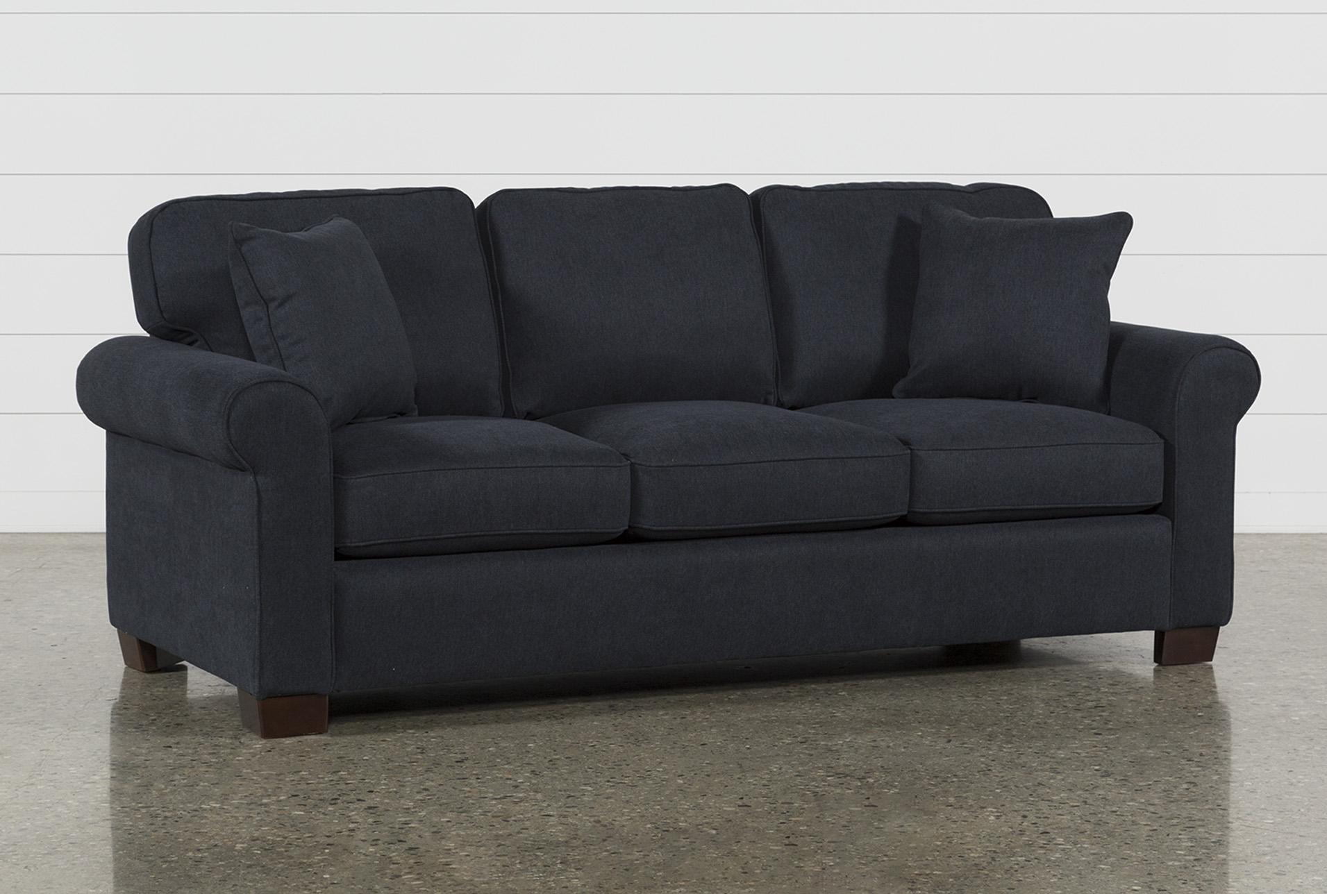 Margot Denim Queen Sofa Sleeper   Living Spaces