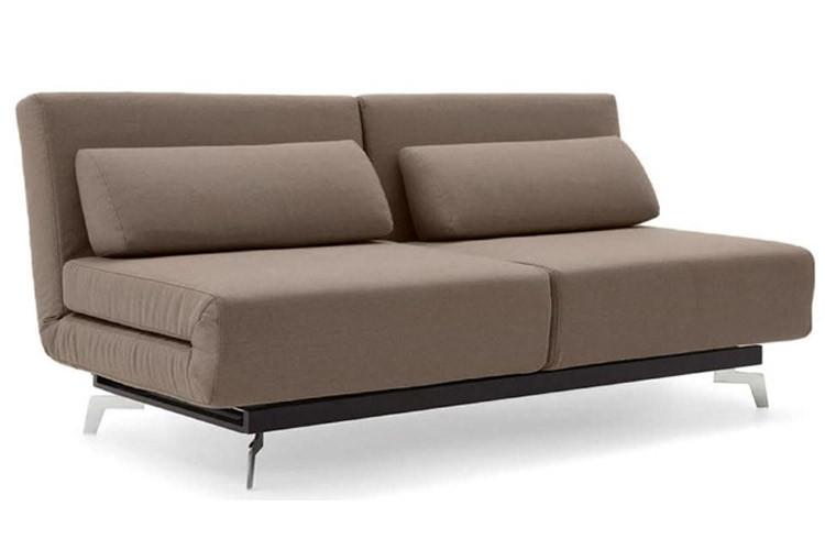 Brown Contemporary Convertible Sofa Bed   Apollo Bark   The Futon Shop