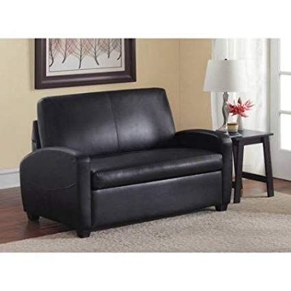 Amazon.com: Sofa Bed Couches Sleeper Sofas-Black Leather Upholstered