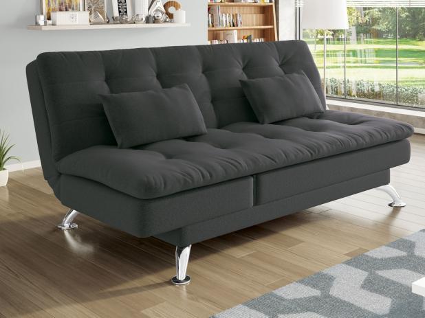 Sofá-cama Suede Reclinável Linoforte - Jade A2 - Sofás - Magazine Luiza