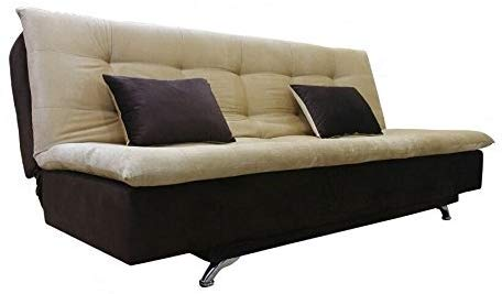 Adorn India Aspen Three Seater Sofa Cum Bed (Brown and Beige