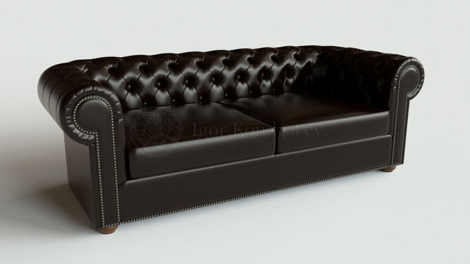 Chester sofa lounge type2-2 high poly 3D model | CGTrader