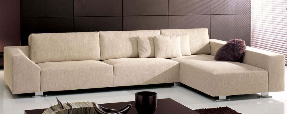 Corner sofa / contemporary / fabric / 3-seater - LOUNGE - CTS SALOTTI