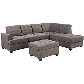 Amazon.com: Casa Andrea Milano 3pc Modern Reversible Grey Charcoal
