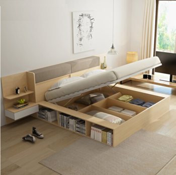 Space Saving Furniture,Modern Simple Wooden Multi-purpose Bed,Made