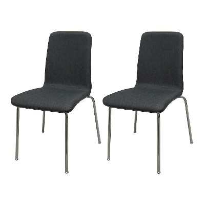 Upholstered Stacking Chair Flat Gray (Set Of 2) - Room Essentials