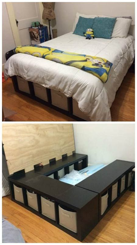 How To Make A Shelf Storage Bed | DIY Home Decor Ideas | Pinterest