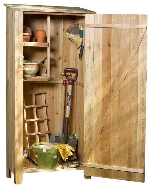 Cedar Storage Hutch, Storage Shed - Rustic - Sheds - by All Things