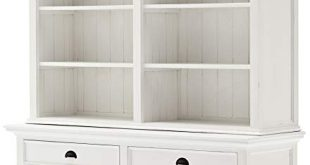 Amazon.com: NovaSolo Halifax Pure White Mahogany Wood Hutch Bookcase