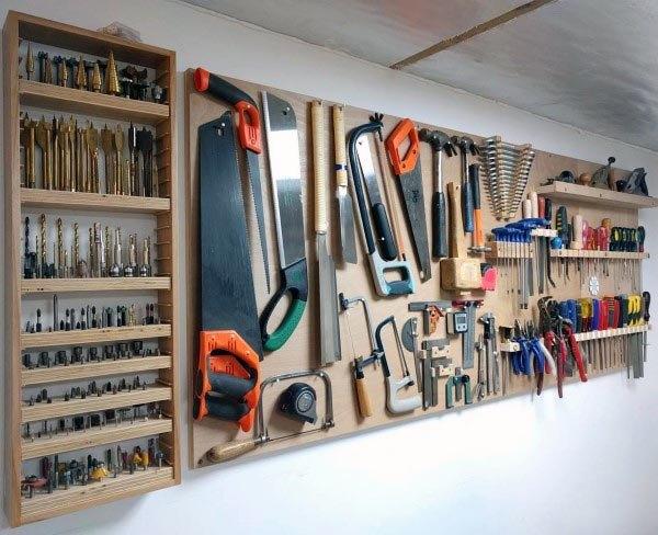 Top 80 Best Tool Storage Ideas - Organized Garage Designs