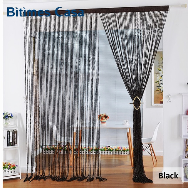 New Style Spiral Solid Color String Curtain Door Curtain Hanger Room