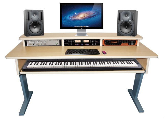 AZ-2 Maple Keyboard Studio Desk