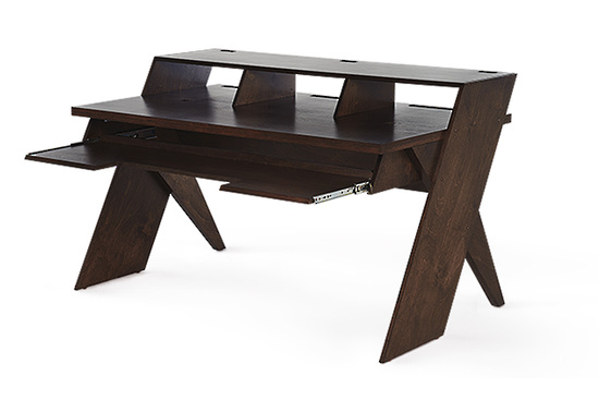 Platform Studio Desk with keyboard Tray (Kodiak Brown) - Desks
