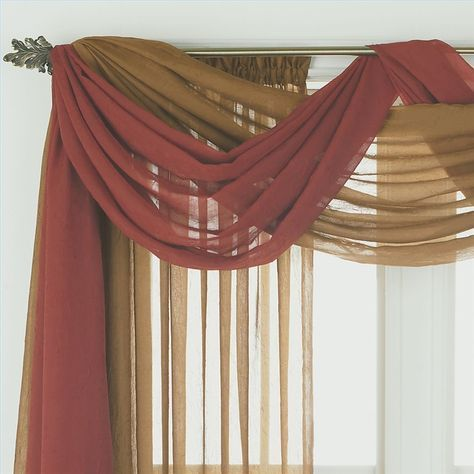Ways to Hang Scarf Valances | How To | Pinterest | Window scarf