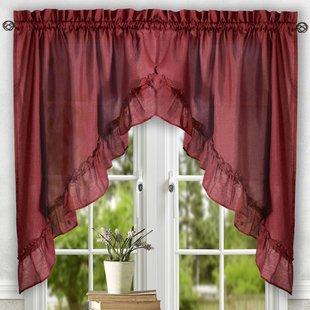 Swag Valances & Kitchen Curtains You'll Love | Wayfair