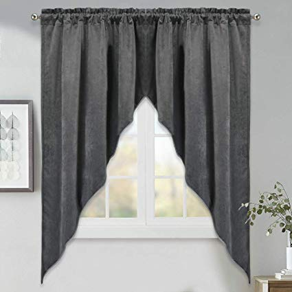Amazon.com: Swag Curtains for Bedroom Window - 63