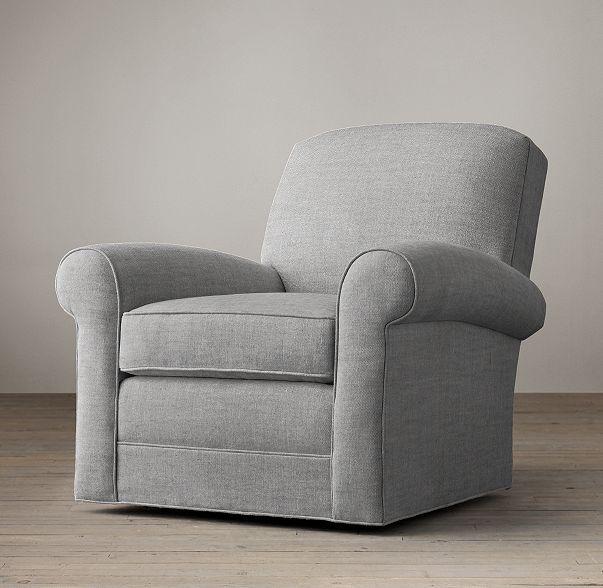 Lowell Upholstered Club Swivel Chair | LIVING ROOM | Pinterest