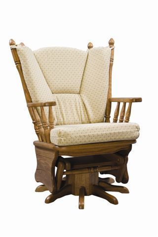 Upholstered Gliding Swivel Rocking Chair from DutchCrafters Amish