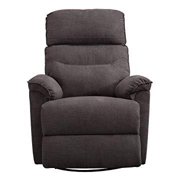 Amazon.com: CANMOV Contemporary Fabric Swivel Rocker Recliner Chair