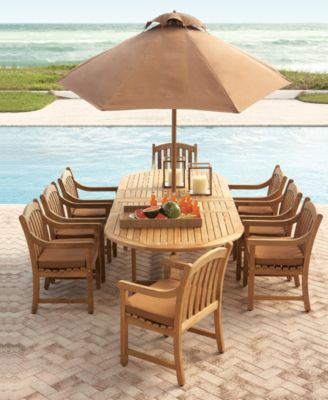 Furniture Bristol Teak Outdoor Dining Collection, Created for Macy's
