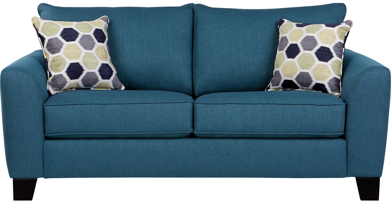 Bonita Springs Blue Sleeper Loveseat - Transitional, Textured