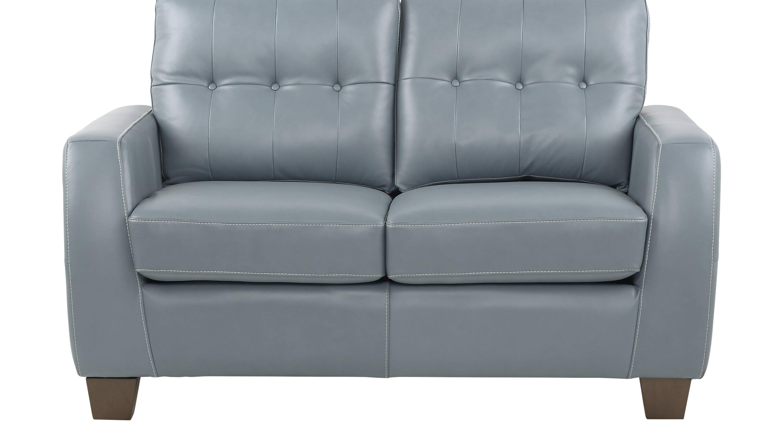 $779.99 - Santoro Ocean (blue) Leather Loveseat - Classic