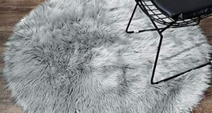 Amazon.com: LEEVAN Plush Sheepskin Style Throw Rug Faux Fur Elegant