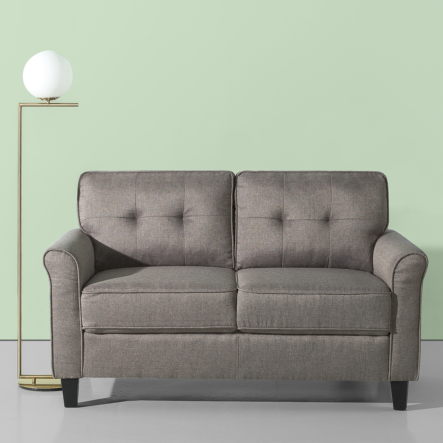 Zinus Josh Traditional Loveseat, Grey Weave - Walmart.com