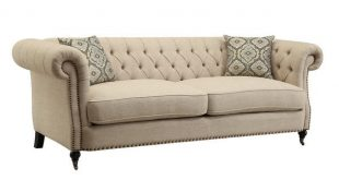 Shop Beige Traditional Sofa/ Loveseat - Free Shipping Today