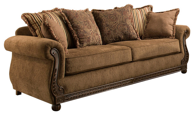Simmons Upholstery Outback Chocolate Loveseat - Traditional