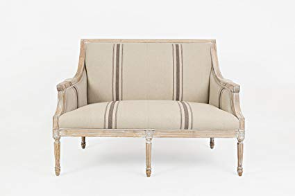 Amazon.com: Jofran Traditional Loveseat in Tan: Kitchen & Dining