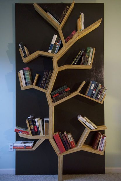 Tree Bookshelf DIY | Cool home - cabinets and shelves | Pinterest