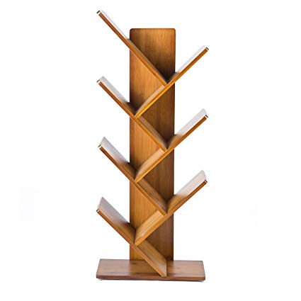 Amazon.com: C&AHOME 7 Shelf Tree Bookcase Bamboo Bookshelf Hard Wood
