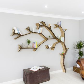 Windswept Oak Tree Bookcase Shelf | a place for everything | Tree