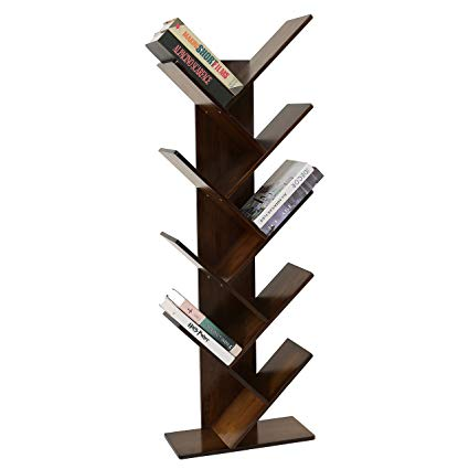 Amazon.com: UNICOO - Bamboo 9-Shelf Tree Bookcase, Special Design