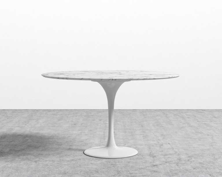 Tulip Table Round - Carrara   Rove Concepts
