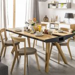 Enjoy Meal Comfortably while sitting   together on the Unique Dinning Table