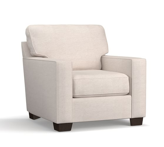 Buchanan Square Arm Upholstered Armchair | Pottery Barn