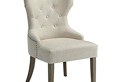 Amazon.com - Florence Upholstered Dining Chair with Tufted Back