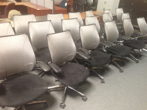 Used Humanscale Liberty Mesh back Ergonomic Chairs at the Office